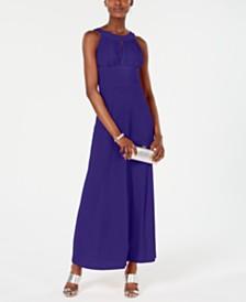 SL Fashions Pleated Maxi Dress