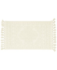 "Nellore Fringe Cotton 20"" x 34"" Bath Rug"