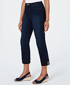 Tummy-Control Cuffed Jeans, Created for Macy's