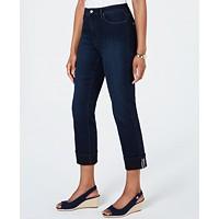 Charter Club Tummy-Control Cuffed Jeans Deals