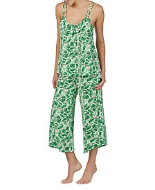 Betsey Johnson Printed Knit Camisole and Culottes Pajama Set