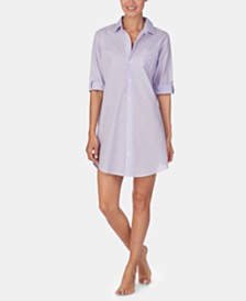 Lauren Ralph Lauren Woven Cotton Sleepshirt