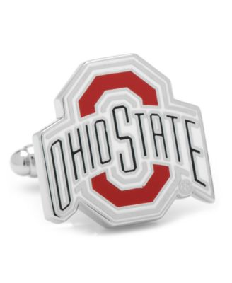 The Ohio State University Buckeyes Stainless Steel Round Cufflinks