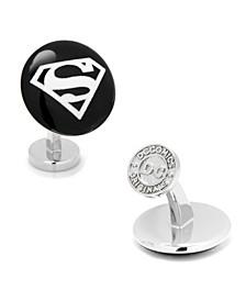 Superman Etched Onyx Cufflinks