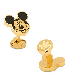 Stainless Steel and Mickey Mouse Cufflinks