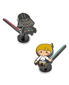 Luke Skywalker Darth Vader Cufflinks Pair