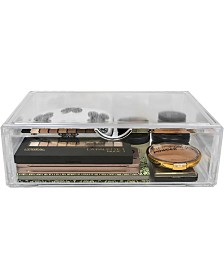 Sorbus Acrylic Cosmetics Makeup Organizer Storage Case Holder Display with Slanted Front Open Lid