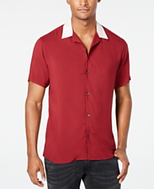 I.N.C. Men's Regular-Fit Camp Shirt, Created for Macy's