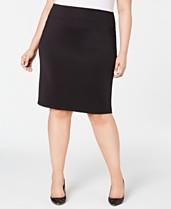 3cdf8d5d7e I.N.C. Plus Size Solid Scuba Pencil Skirt, Created for Macy's