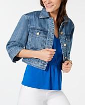 fd8710c07d9 MICHAEL Michael Kors Cotton Wide-Sleeve Jean Jacket