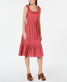 MICHAEL Michael Kors Flounce-Hem Sleeveless Midi Dress