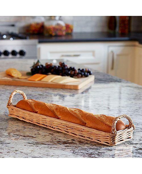 Household Essentials Long Wicker Bread Basket
