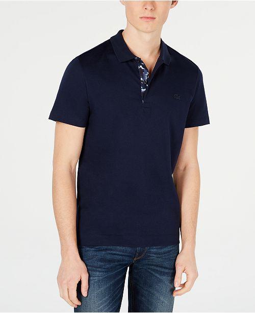 Lacoste Men's Camo Placket Polo Shirt, Created for Macys