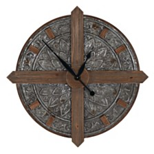 Household Essentials Crosshair Metal Wall Clock