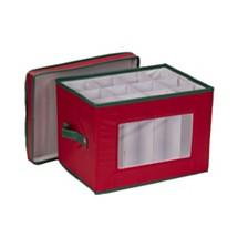Household Essentials Holiday Stemware Flute Storage Box
