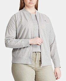 Lauren Ralph Lauren Plus Size French Terry Jacket