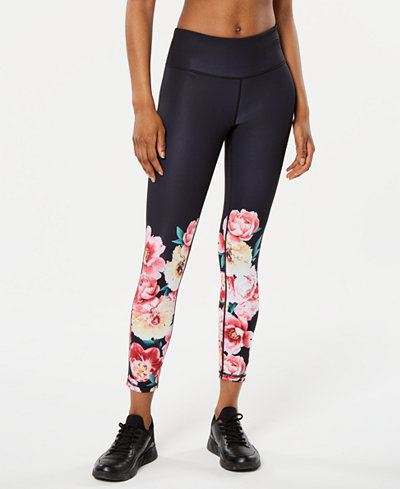 Ideology Floral-Print Ankle Leggings, Created for Macy's