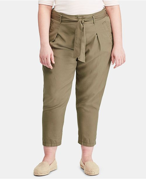 Lauren Ralph Lauren Plus Size Twill Pants