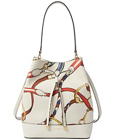 Lauren Ralph Lauren Dryden Debby Printed Canvas Drawstring Bag