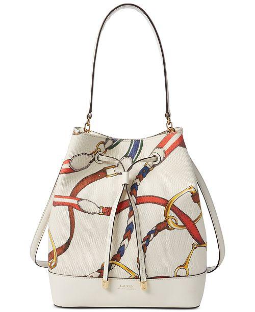 Lauren Ralph Lauren Dryden Debby Printed Canvas Drawstring Bag