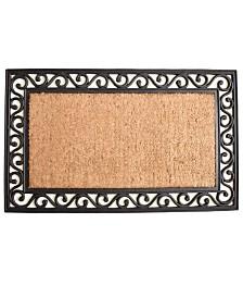 """Versailles 22"""" x 36"""" Coir/Rubber Doormat"""