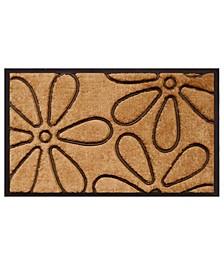 """Flowers 18"""" x 30"""" Coir/Rubber Doormat"""