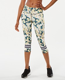 Ideology Luminous Floral Printed Cropped Leggings, Created for Macy's