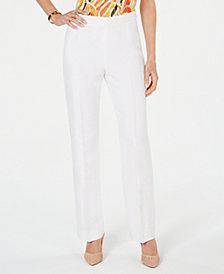 Kasper Petite Side-Zippered Pants