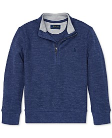 Polo Ralph Lauren Little Boys Cotton Mesh Half-Zip Pullover