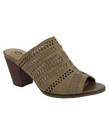 Bella Vita Koraline Block Heel Slide Sandals