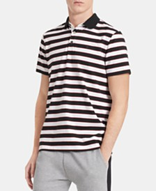 Calvin Klein Men's Liquid Touch Striped Polo Shirt