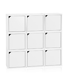Way Basics Eco Stackable Connect 9 Cube Storage with Doors