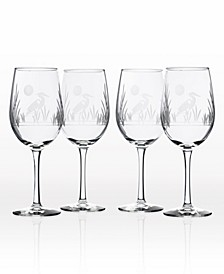 Heron Set of 4 Glasses Collection