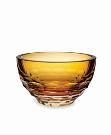 Rolf Glass Vienna Amber Round Bowl In Gift Box