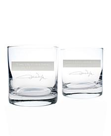 John Wayne Quotes Series 2 On The Rocks 11Oz - Set Of 2 Glasses