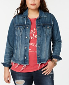 Lucky Brand Plus Size Glenwood Trucker Denim Jacket