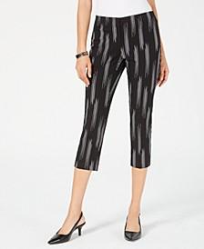 Petite Printed High-Waist Capri Pants, Created for Macy's