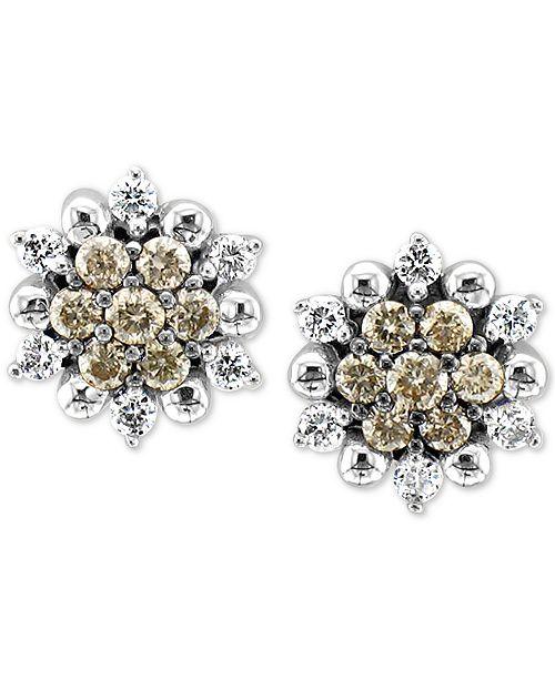 Le Vian Chocolatier® Diamond Stud Earrings (1/3 ct. t.w.) in 14k White Gold