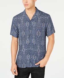 I.N.C. Men's Baroque Camp Collar Shirt, Created for Macy's