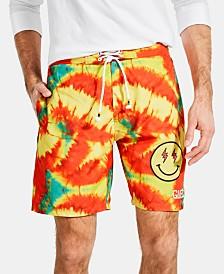 GUESS Men's Striped Logo Swim Shorts