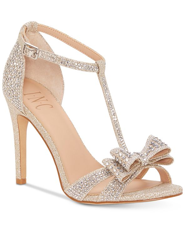 INC International Concepts INC Women's Reesie Rhinestone Bow Evening Sandals, Created for Macy's