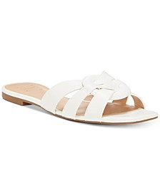 INC Gargi Knot-Front Woven Slide Sandals, Created For Macy's