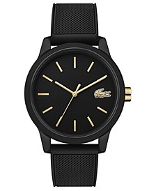 Men's 12.12 Black Rubber Strap Watch 42mm