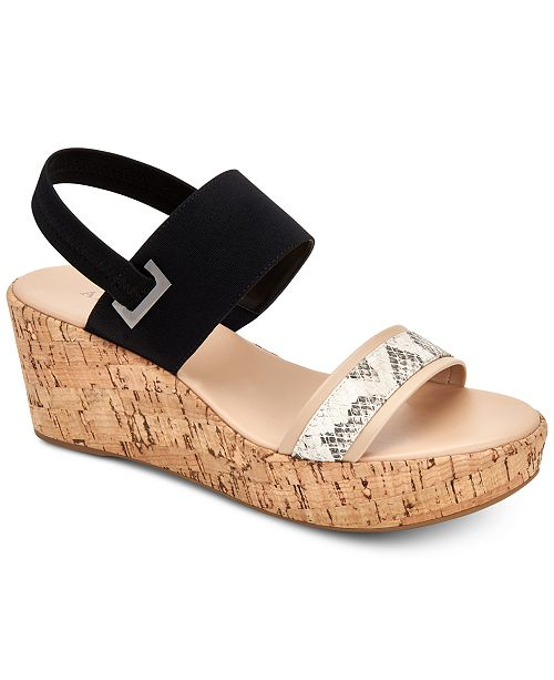 Alfani Women's Maybell Platform Wedge Sandals, Created for Macy's