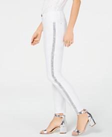 I.N.C. Embellished Side-Seam Skinny Jeans, Created for Macy's