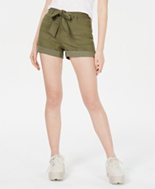 Vanilla Star Juniors' Belted Utility Shorts