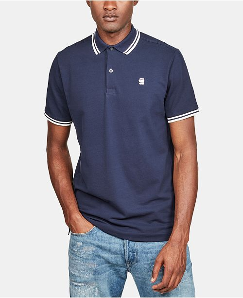 G-Star Raw Men's Slim-Fit Striped-Trim Polo, Created for Macy's