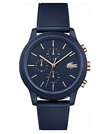 Men's Chronograph 12.12 Blue Rubber Strap Watch 42mm
