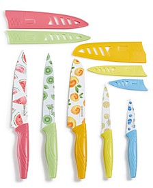 10-Pc. Knife Set, Fruit Prints