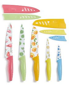 Art & Cook 10-Pc. Knife Set, Fruit Prints